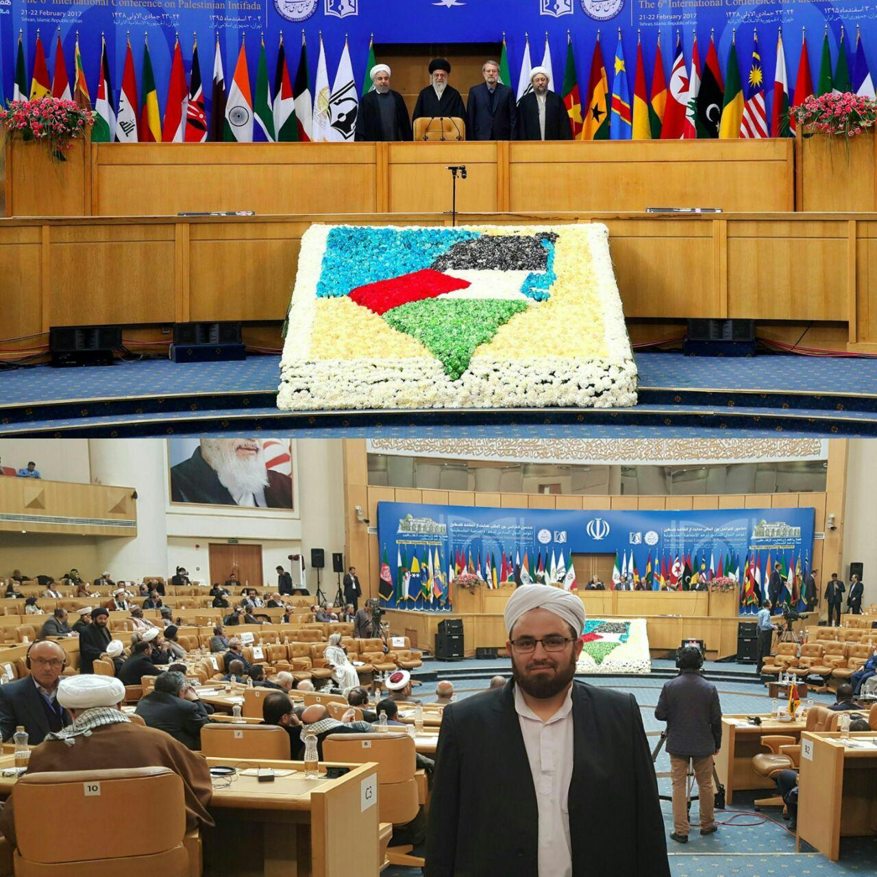 ششمین کنفرانس بینالمللی حمایت از انتفاضه فلسطین به ریاست مجلس شورای اسلامی جمهوری اسلامی ایران در سالن اجلاس با حضور رئیس مجالس کشورهای اسلامی